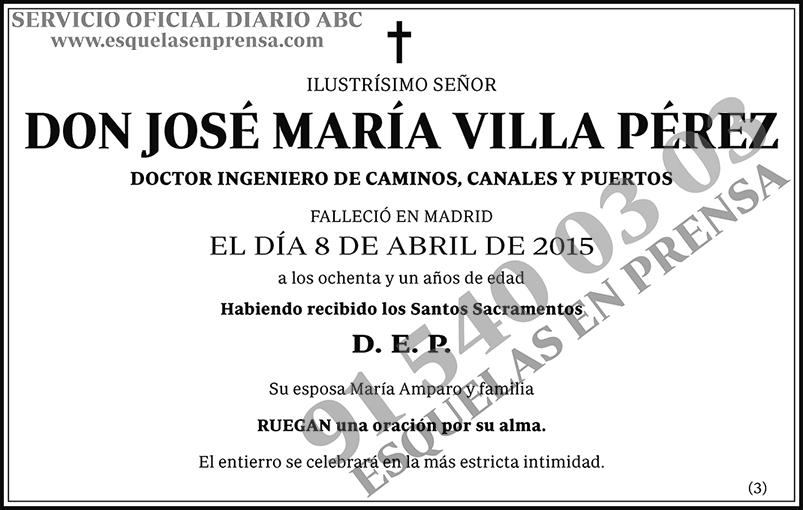 José María Villa Pérez